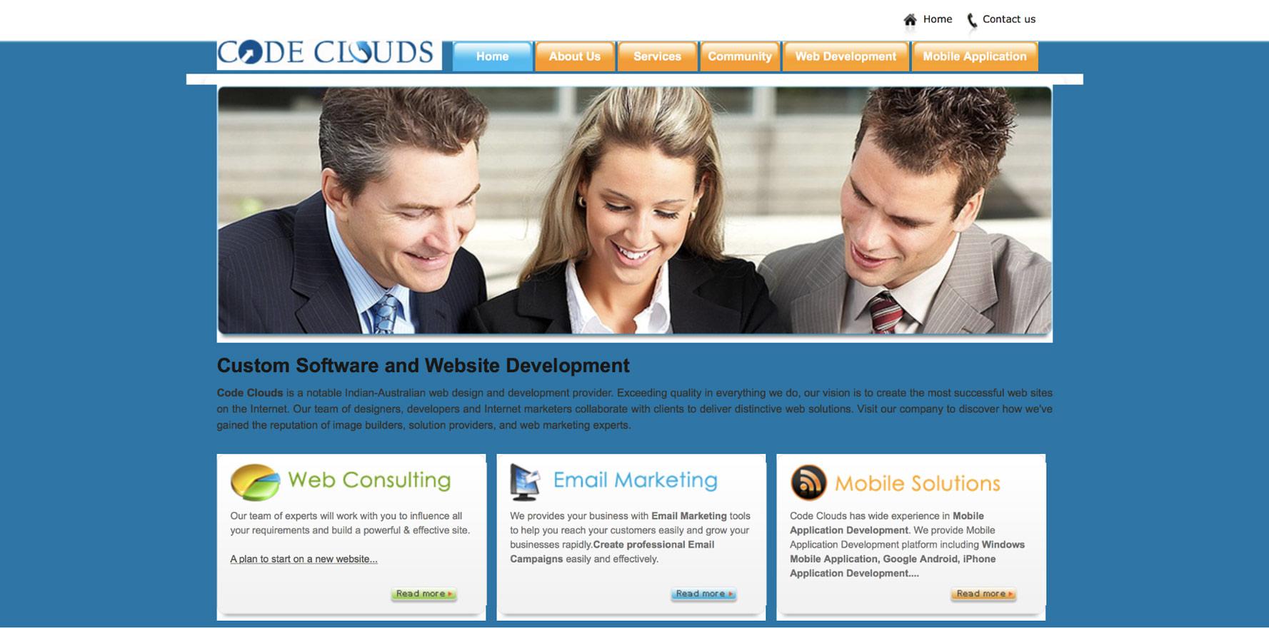 CodeClouds homepage